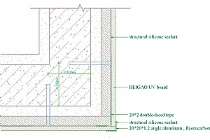 90-degree Perpendicular Angle External Corner Section Drawing