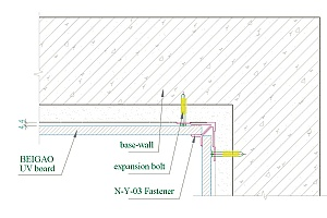 Internal Corner Section Drawing